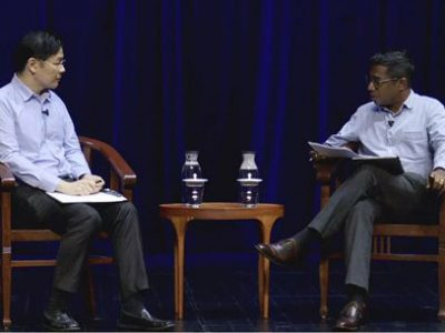 Finance Minister Lawrence Wong addressing a range of topics relating to race during a dialogue session with Dr Shashi Jayakumar, from the S Rajaratnam School of International Studies.