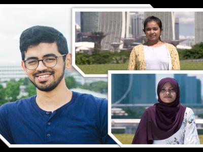 Left to right bottom: Yarlagadda Sai Surya, 26, Manickavasagan Ashmitha, 17 and Munassa Ain Binte Mohamed Arish, 19