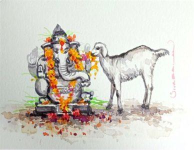 Ganesha and Goat